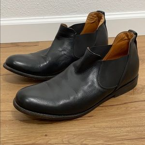 BED STU Black Leather Royce Boots, size 12